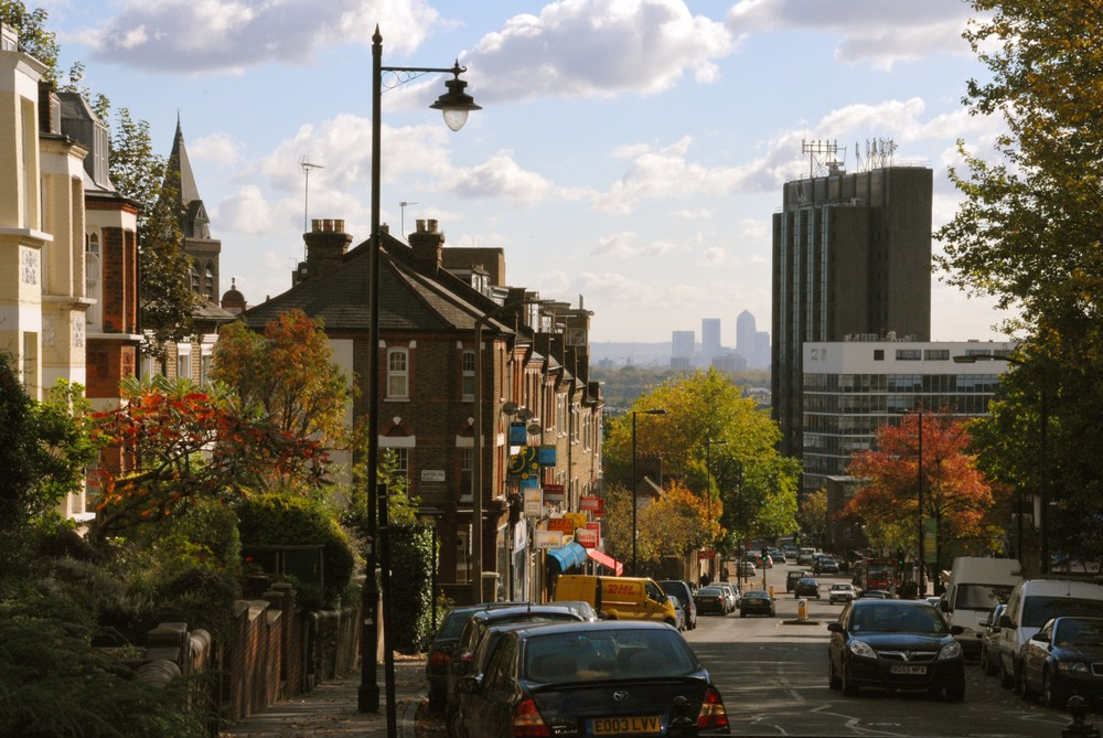 Highgate Hill towards Archway - What's in a Name: London's Hills and the Origin of their Names