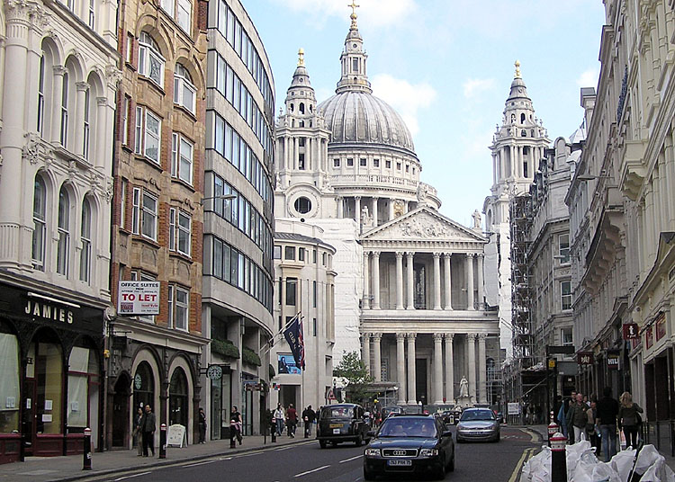 Saint.pauls .from .ludgate.hill .arp .750pix - What's in a Name: London's Hills and the Origin of their Names